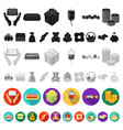 charity and donation flat icons in set collection vector image vector image