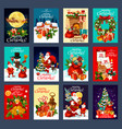 christmas and new year holidays greeting card vector image vector image