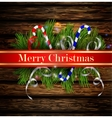 Christmas background with candies vector image vector image