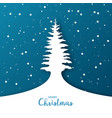 christmas background with christmas tree origami vector image vector image