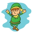 Christmas elves Santa little helpers vector image