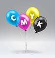 CMYK inflatable balloons vector image