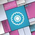 cogwheel icon sign Modern flat style for your vector image
