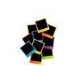 Colorful polaroids vector image vector image