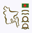 Colors of Bangladesh vector image vector image