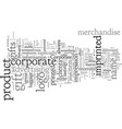 corporate gifts imprint to impress vector image vector image