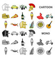 country italy cartoon icons in set collection for vector image vector image