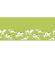 Cows on the field horizontal seamless pattern vector image