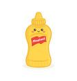 cute bottle mustard bottle face vector image vector image