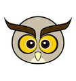 cute owl cute animal faces vector image vector image