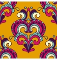 Damask doodle yellow seamless pattern vector image vector image
