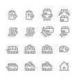 delivery logistics web shop thin line icons vector image