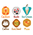 different types food vector image