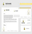 drink bottle business letterhead envelope and vector image vector image