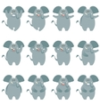 Elephant flat icons set vector image vector image