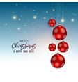 festival christmas greeting design with red vector image vector image