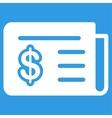 Financial News Icon vector image