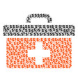first aid toolbox composition of dollar and dots vector image
