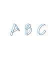 Font letters minimalistic line logo vector image vector image