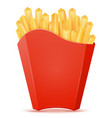 french fries in carton pack stock vector image vector image