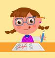 Genius girl with a grade