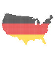 german colors dot usa map vector image