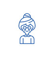 grandmother line icon concept grandmother flat vector image