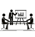group of bussinespeople in the office vector image vector image