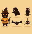 halloween character design vector image vector image