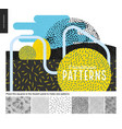 hand drawn back and white 6 patterns set vector image vector image