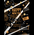 happy new year party 2019 card for your party vector image