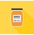 Honey bottle icon vector image vector image