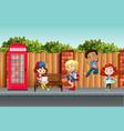 international children in town vector image vector image