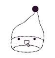 kawaii christmas hat santa claus with tongue out vector image vector image