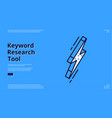 keyword research tool blank banner vector image vector image