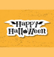lettering of happy halloween in paper cut style vector image
