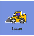loader color flat icon vector image vector image
