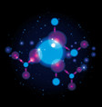 molecule structure chemical universe vector image vector image