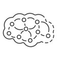 neuron brain icon outline style vector image