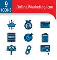 online market color icon vector image vector image