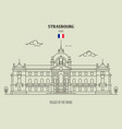 palace rhine strasbourg vector image vector image