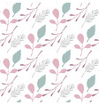 pink leaves and branches seamless pattern on vector image vector image