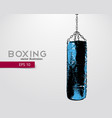 punching bag silhouette vector image