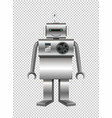 robot made of steel on transparent background vector image vector image
