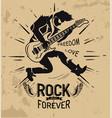 rock music forever love vector image