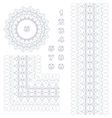 Rosette border and numbers vector image vector image