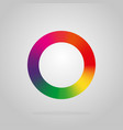 round logo colors of the rainbow on a black vector image vector image