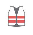 safety vest icon on white background for graphic vector image
