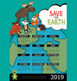 save world 2019 year calendar poster vector image vector image