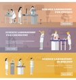 set of medical laboratory banners vector image vector image
